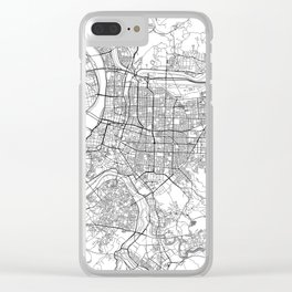Taipei White Map Clear iPhone Case