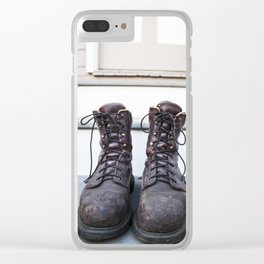 Work Boots Clear iPhone Case