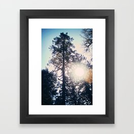 Don't Look into the Light Framed Art Print