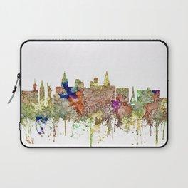 Las Vegas, Nevada Skyline - Faded Glory Laptop Sleeve