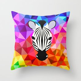 Zebra Dazzle Throw Pillow