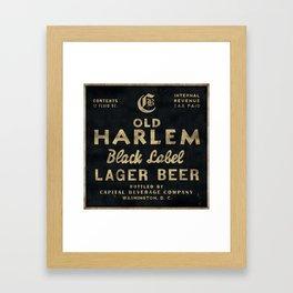 Old Harlem Lager Beer vintage advertisment poster Framed Art Print