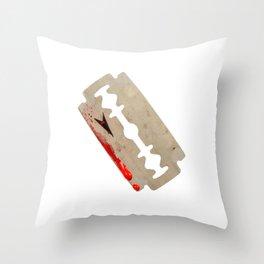 Razor Blade Throw Pillow