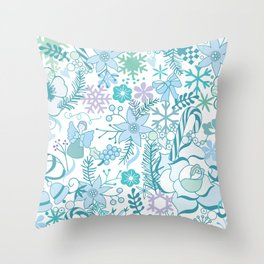 Bright xmas pattern Throw Pillow