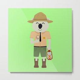 koala ranger with hat Metal Print