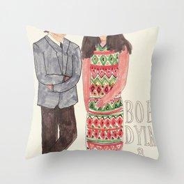 Bob Dylan & Joan Baez Throw Pillow