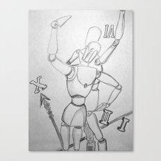 clock mannequins Canvas Print