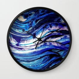Blue Abstract | Purple Abstract | Space Painting | Surreal Feathers Wall Clock
