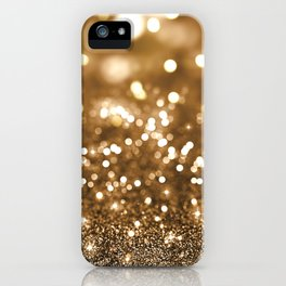 Pure Gold - Christmas Gold Glitter iPhone Case