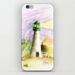 Lighthouse At Dusk iPhone Skin