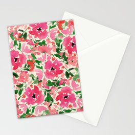 Red Rose Bouquet Stationery Cards