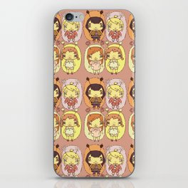 quirky seasons pattern iPhone Skin