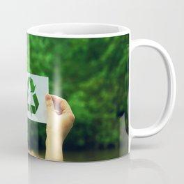 holding recycle symbol Coffee Mug