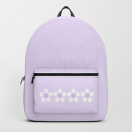 Spring Daisies - Geometric Design in Lilac Purple & White Backpack
