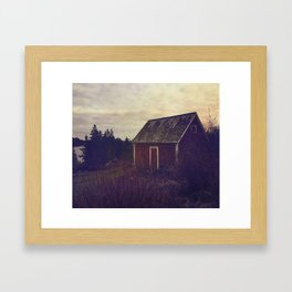 Red Barn Framed Art Print
