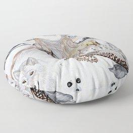 Snow Angels Floor Pillow