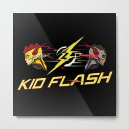 Kid Flash Metal Print