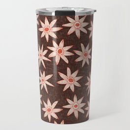 sema brown fire orange Travel Mug