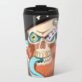 Skeleton pirate Octopus Travel Mug