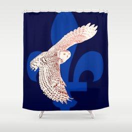 La fête des patriotes, le harfang des neiges. Shower Curtain