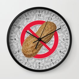 Peanuts Are Forbidden - Les Arachides Sont Interdites Wall Clock