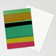 Stripes on Aqua Stationery Cards