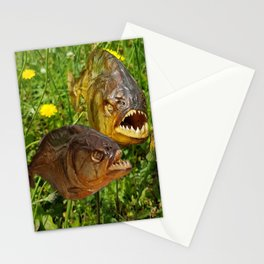 Crazyfish Alarm Stationery Cards