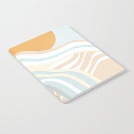Retro Rainbow Summer Waves Notebook