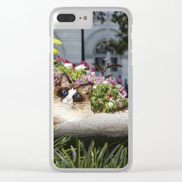 Sunning in Wright Square Clear iPhone Case