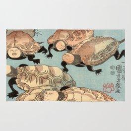 Utagawa Kuniyoshi Strange and Wondrous Immortal Turtles Rug