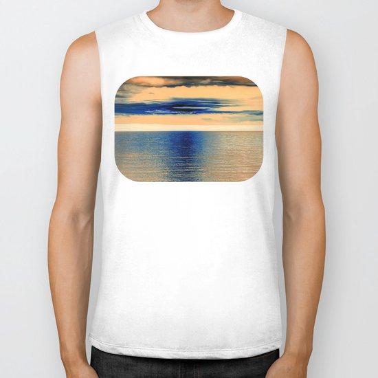 Sunset at Sea 07 Biker Tank