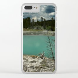 A Surreal Landscape Clear iPhone Case
