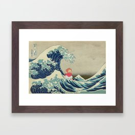 Ponyo and the Great Wave Framed Art Print