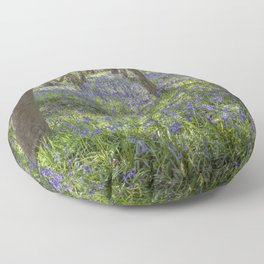 Seabrook Bluebells Floor Pillow