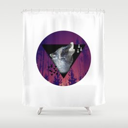 Witchy Wolf Shower Curtain