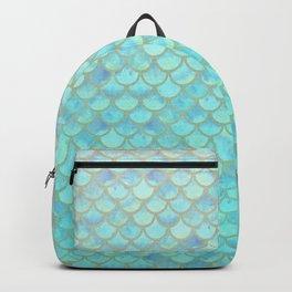 Teal Mermaid Scales Backpack