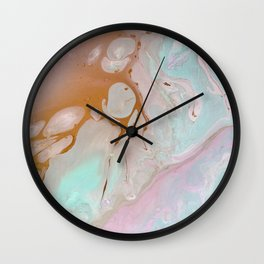 Pastels feat. Gold. Wall Clock