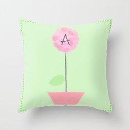 Flower A Throw Pillow