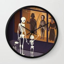 Skeletons at Halloween Wall Clock