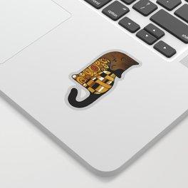 Cat in art nouveau style Sticker