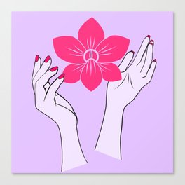 Holy orchid Canvas Print