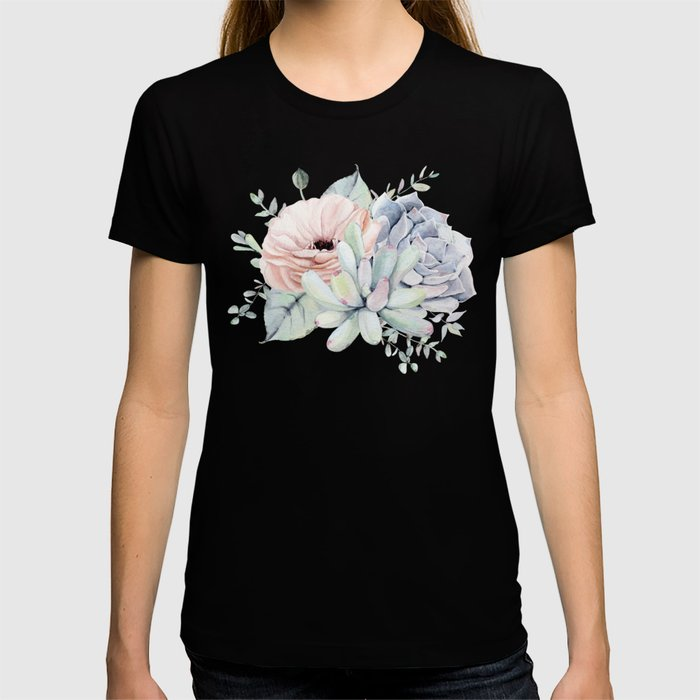 Pretty Succulents by Nature Magick T-shirt
