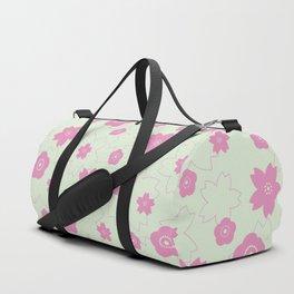 Sakura blossom - spring green Duffle Bag