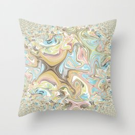 Pastel Fractal Abstract Throw Pillow