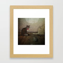 With the soul of tomcat Framed Art Print