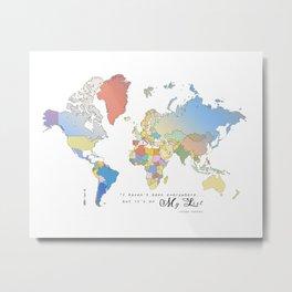 World Map [Bucket List] Metal Print