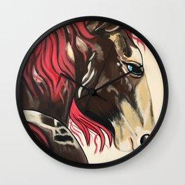 Cinnamon Horse by Noelles's Art Loft Wall Clock
