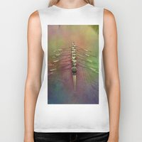 rowing Biker Tanks featuring Rowing the Rainbow River by benzos