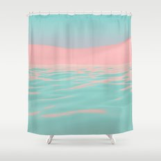 Pink Beach Shower Curtain