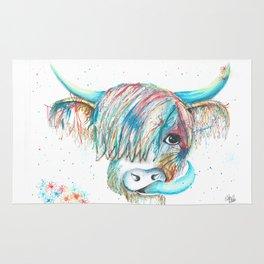 Highland Cattle full of colour Rug